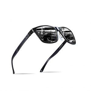 ATTCL Men's Hot Retro Metal Frame Driving Polarized Wayfarer Sunglasses Al-Mg Metal Frame Ultra Light -0