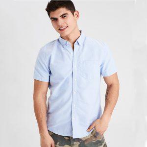 AE Washed Short Sleeve Oxford Shirt-0