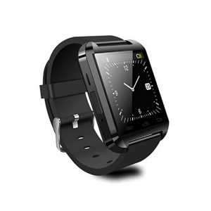 ANDROSET Universal Bluetooth Smartwatch for Android/IOS Touch Screen Smart Phone Mate - Black -0