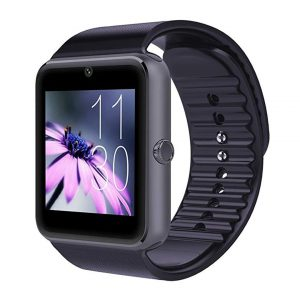 CNPGD Bluetooth Smart Watch(Partial Compatible for IOS IPHONE)+(Full Compatible for Android smartphone) Samsung, LG, Galaxy Note, Nexus, Sony+Unlocked Watch Cell Phone+Fitness Tracker Camera Pedometer for Kids, Men and Women(Black) -0