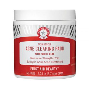 First Aid Beauty Skin Rescue Acne Clearing Pads With White Clay-0