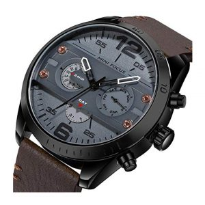 Men Quartz Business Waterproof Casual Analog Wrist Watch Men Sport Watch with Date and Week Display -0