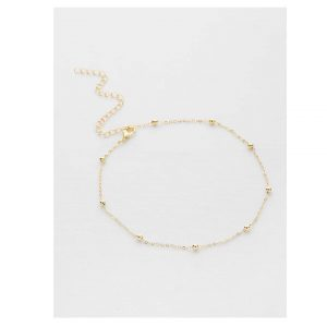 Beaded Design Chain Choker-0
