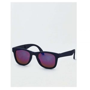 Foldable Navy Classic Sunglasses-0