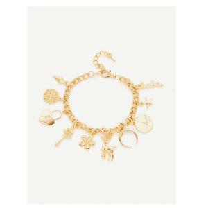 Multi Charm Chain Bracelet -0