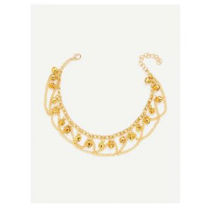Bells Charm Layered Chain Anklet -0