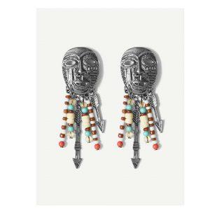 Mask Design Drop Earrings -0