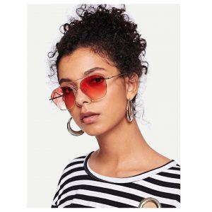 Tinted Lens Double Bridge Sunglasses -0