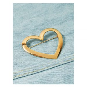 Open Heart Shaped Brooch-0