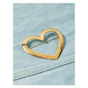 Open Heart Shaped Brooch-0