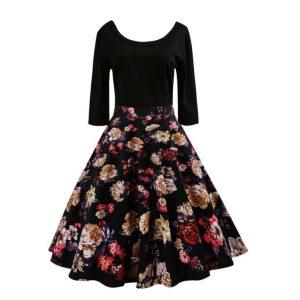 Floral Print Dress -0