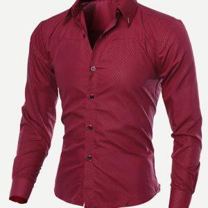 Men Long Sleeve Solid Shirt-0