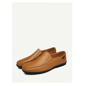 Men Stitch Detail Slip On Shoes -0