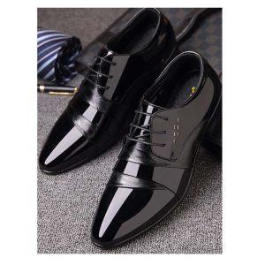Men Lace Up Derby Shoes -0