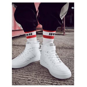 Men Lace Up PU Sneakers -0