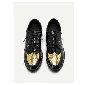 Men Lace Up Low Top Shoes -0