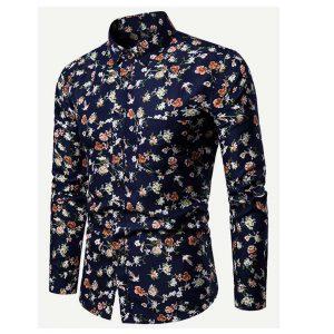 Men Allover Floral Print Shirt -0