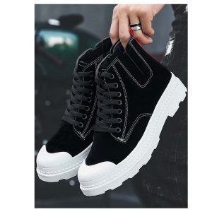 Men Lace Up Cap Toe Sneakers-0