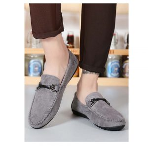 Men Slip On Suede Loafer-0
