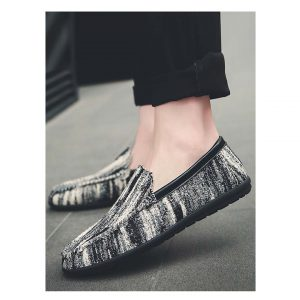Men Asymmetrical Slip On Loafers -0