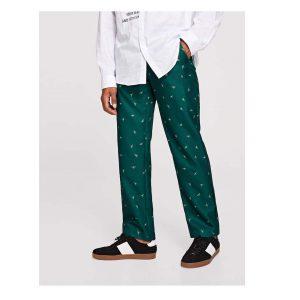 SHEIN Men Insect Print Slant Pocket Pants -0