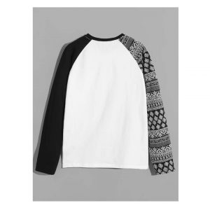 SHEIN Men Color-Block Raglan Sleeve Tee -0