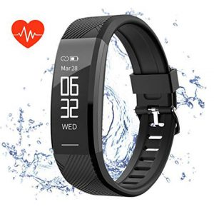 Teetox Fitness Tracker, Activity Tracker Watch with Heart Rate Monitor Waterproof Smart Bracelet Wristband ip67, Step Calorie Counter Wearable Pedometer for Women Men (US Version) -0