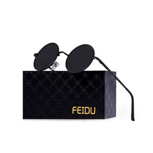 FEIDU Retro Polarized Round Sunglasses for Men Vintage Sunglasses Women FD3013 -0
