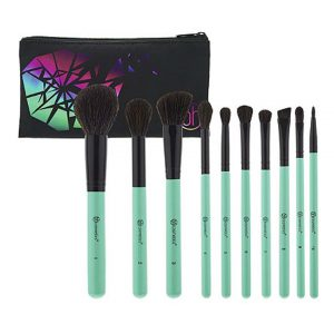 Aurora Lights - 10 Piece Brush Set with Cosmetic Bag-0