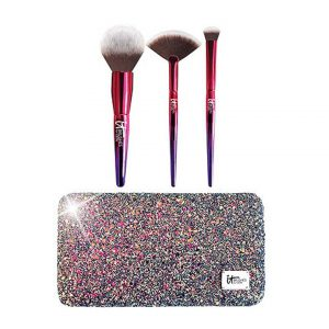 Your Rockstar Brushes! Limited Edition 3 Pc Brush Set + Glitter Clutch-0
