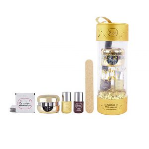 Online Only Gold Ornament Gel Manicure Gift Set-0