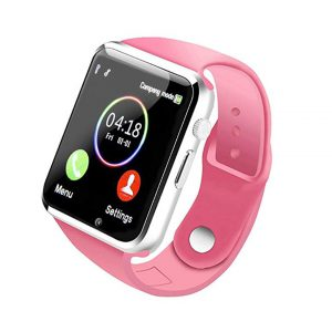Smart Watch - 321OU Fitness Tracker Bluetooth Smart Watch Smartwatch Phone Fitness Tracker SIM SD Card Slot Camera Pedometer iPhone iOS Samsung LG Android Women Men Kids (Pink 2) -0