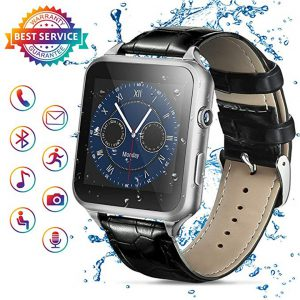 Smart Watch,Bluetooth Smartwatch Touch Screen Smart Phone Watch Android Smartwatch with Camera/SIM Card Slot Waterproof Bluetooth Smart Watch for Android Phones iOS iPhone Samsung Men Women Black -0