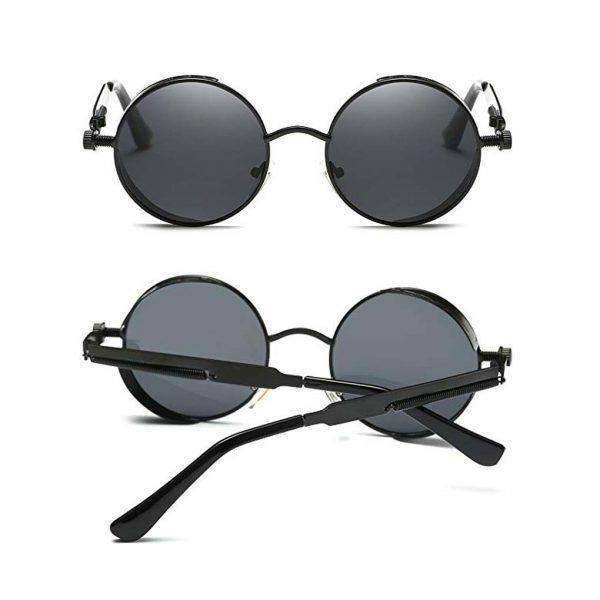 GAMT John Lennon Glasses Quavo Steampunk Round Sunglasses Circle Metal Frame Eyewear for Men and Women -0