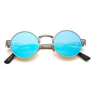 Dollger John Lennon Round Sunglasses Steampunk Metal Frame-0