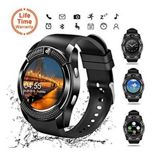 Smart Watch,Bluetooth Smartwatch Touch Screen Wrist Watch with Camera/SIM Card Slot,Waterproof Phone Smart Watch Sports Fitness Tracker for Android iPhone iOS Phones Samsung Huawei for Kids Women Men -0