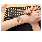 Luxury Womens Rhinestone Quartz Watches Stainless Steel Waterproof Bracelet Wristwatch -4408