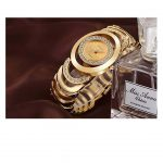 Luxury Womens Rhinestone Quartz Watches Stainless Steel Waterproof Bracelet Wristwatch -4407