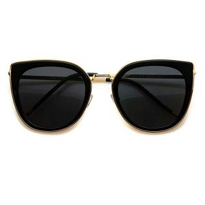WearMe Pro Elegant High Fashion Oversize Women Cat Eye Flat Top Sunglasses … -0