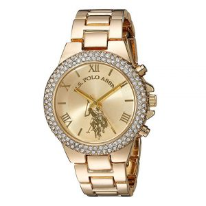 U.S. Polo Assn. Women's Quartz Metal and Alloy Casual Watch, Color:Gold-Toned -0
