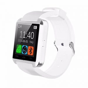 HOMEGO Cars-029, U8 Upgrade Model Water-Proof Bluetooth Wrist Smart Watch Phone Mate Hands-Free Call for Smartphone Outdoor Sports Pedometer Stopwatch - White -0