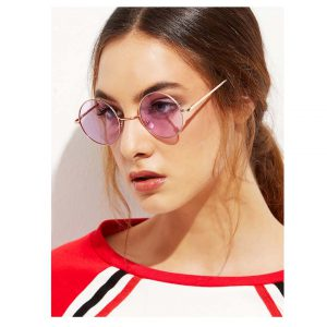 Gold Metal Frame Round Glasses -0