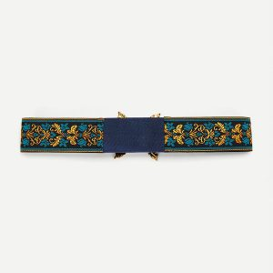 Flower Embroidery Retro Belt -0