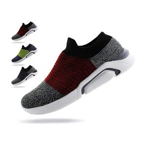 Jabasic Mens Ultra-Sock Knit Running Sneaker Breathable Athletic Slip On Walking Shoes -0