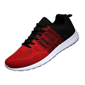 WELMEE Men's Knit Breathable Casual Sneakers Lightweight Athletic Tennis Walking Running Shoes -0