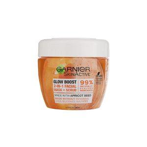Garnier SkinActive Glow Boost 2-in-1 Facial Mask and Scrub-0